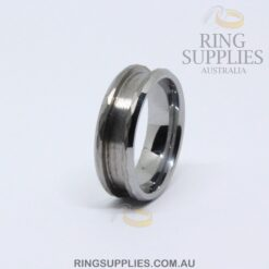8mm Tungsten faceted ring blank