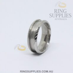 Damascus Steel 8mm ring blank