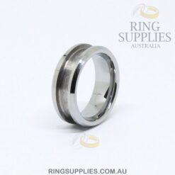 8mm Tungsten Ring Blanks with Channel