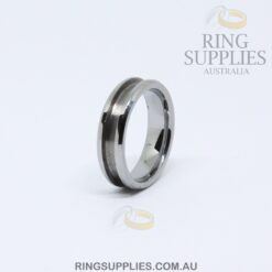 6mm Tungsten Ring Blank with Channel
