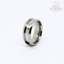 8mm Titanium Ring Blank with 4mm wide Channel