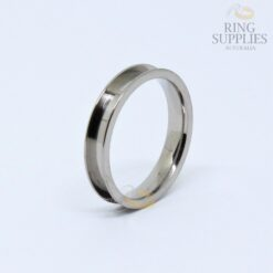 4mm Titanium ring blank with 3mm channel
