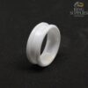 8mm white ceramic ring blanks with 4mm channel groove