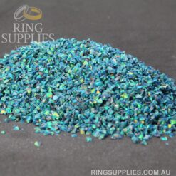 Blue Fire Crushed Opal Chips