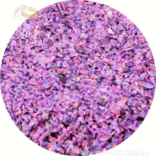 Royal Lavender Crushed Opal Chips