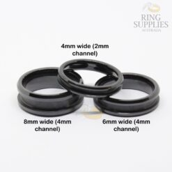 Black ceramic ring blanks with channel groove