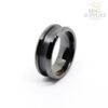 8mm black ceramic ring blanks with channel groove