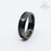 6mm black ceramic ring blanks with channel groove