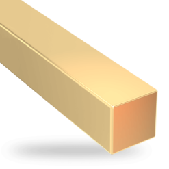 Yellow Gold Square Wire