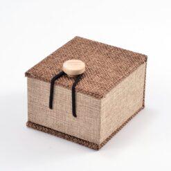Burlap Ring Box