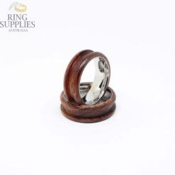 Rosewood ring blank with stainless steel core