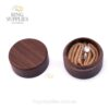 Round Walnut Ring Presentation Box